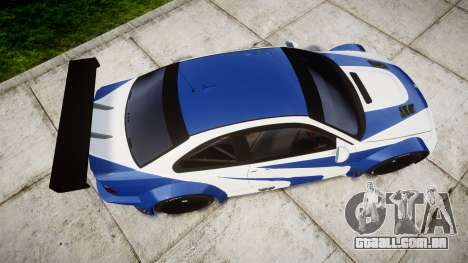 BMW M3 E46 GTR Most Wanted plate Liberty City para GTA 4 vista direita
