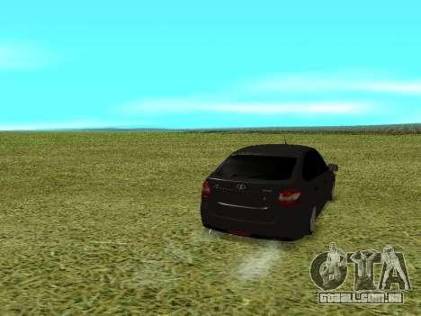 Lada Granta Kalina 2 para GTA San Andreas traseira esquerda vista