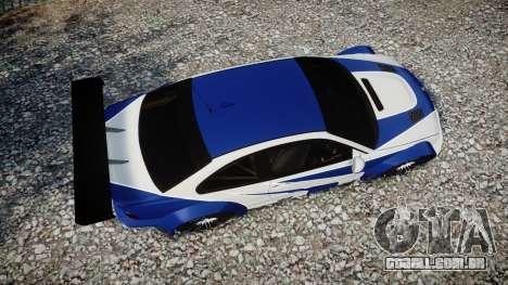 BMW M3 E46 GTR Most Wanted plate NFS para GTA 4 vista direita