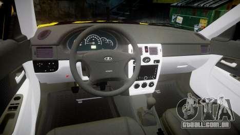 VAZ-Lada 2170 Priora hobo para GTA 4 vista interior