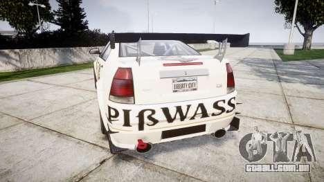 Albany Presidente Racer [retexture] Pibwasser para GTA 4 traseira esquerda vista