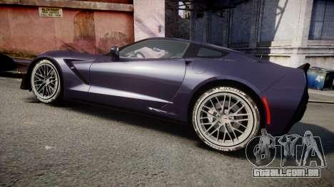 Chevrolet Corvette Z06 2015 TireMi4 para GTA 4 esquerda vista