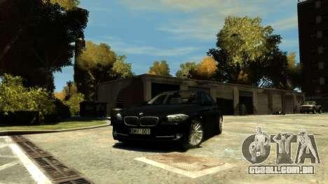 BMW 525 F10 para GTA 4 vista de volta