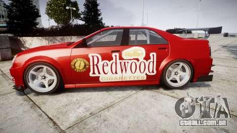 Albany Presidente Racer [retexture] Redwood para GTA 4 esquerda vista