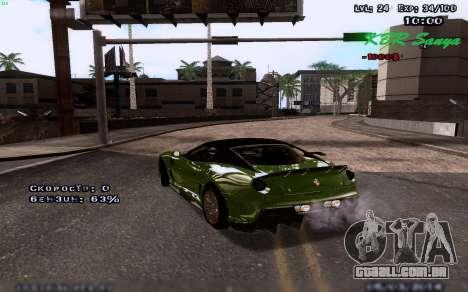 Gráficos melhorados por meio de computadores para GTA San Andreas segunda tela
