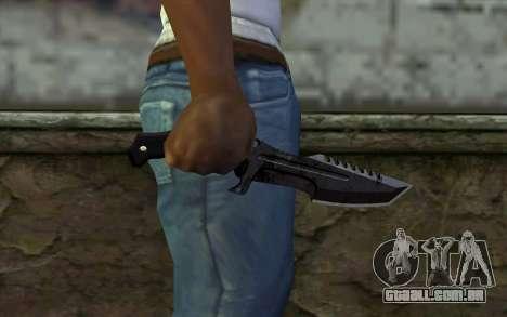 Knife from COD: Ghosts v2 para GTA San Andreas terceira tela