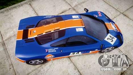 McLaren F1 1993 [EPM] Gulf 34 para GTA 4 vista direita