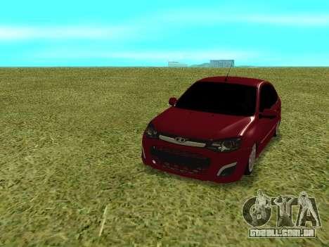 Lada Granta Kalina 2 para GTA San Andreas vista traseira