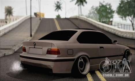 BMW M3 E36 Bosnia Stance para GTA San Andreas esquerda vista