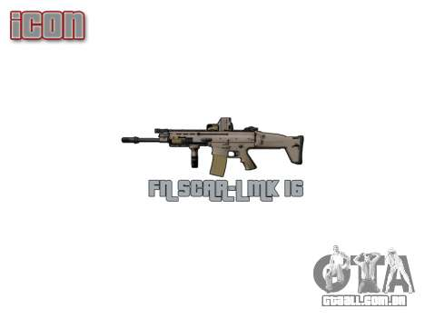 Máquina FN SCAR-L Mc 16 icon3 para GTA 4 terceira tela