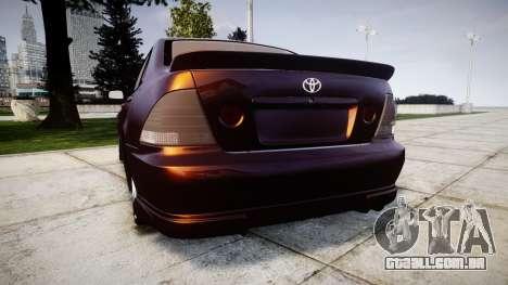 Toyota Altezza para GTA 4 traseira esquerda vista