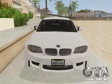BMW 1M 2011 para GTA San Andreas traseira esquerda vista