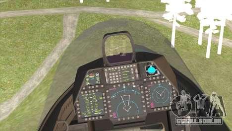 F-22A Raptor Unpainted Factory Texture para GTA San Andreas traseira esquerda vista