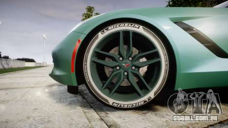 Chevrolet Corvette C7 Stingray 2014 v2.0 TireMi3 para GTA 4 vista de volta