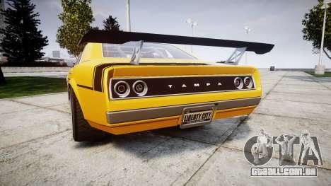 Declasse Tampa GT para GTA 4 traseira esquerda vista