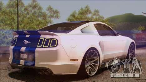 Ford Mustang GT 2012 para GTA San Andreas esquerda vista