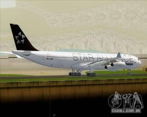 Airbus A340-300 Lufthansa (Star Alliance Livery) para GTA San Andreas vista traseira