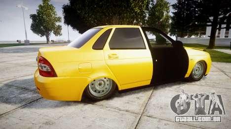 VAZ-Lada 2170 Priora hobo para GTA 4 esquerda vista