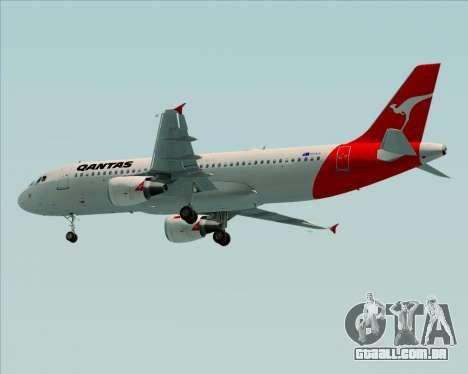 Airbus A320-200 Qantas para GTA San Andreas vista direita