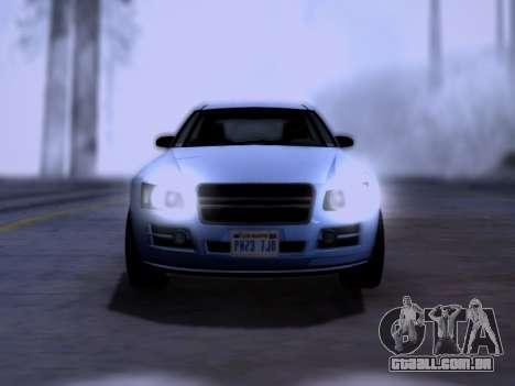 Obey Tailgater GTA V para GTA San Andreas vista direita