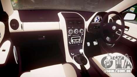 Toyota Altezza para GTA 4 vista de volta