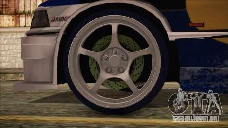 BMW E36 Coupe Bridgestone Red Bull para GTA San Andreas traseira esquerda vista