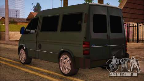 Ford Transit para GTA San Andreas esquerda vista