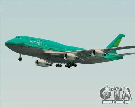 Boeing 747-400 Aer Lingus para GTA San Andreas vista superior