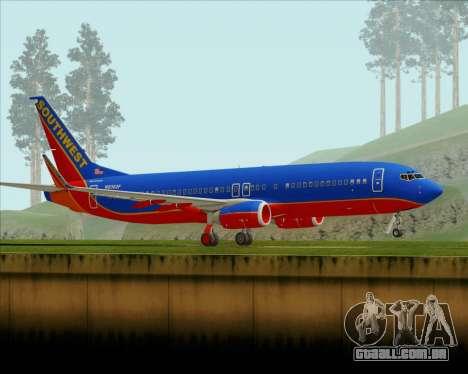 Boeing 737-800 Southwest Airlines para GTA San Andreas esquerda vista