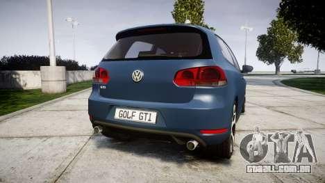 Volkswagen Golf GTI 2010 para GTA 4 traseira esquerda vista