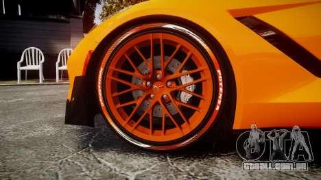 Chevrolet Corvette Z06 2015 TireBr1 para GTA 4 vista de volta