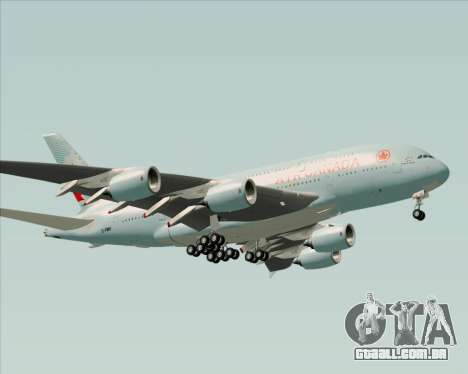 Airbus A380-800 Air Canada para GTA San Andreas vista inferior