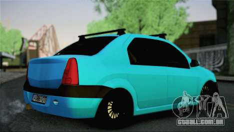 Dacia Logan Simply Clean para GTA San Andreas esquerda vista
