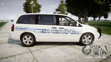 Dodge Grand Caravan [ELS] Liberty County Sheriff para GTA 4 esquerda vista