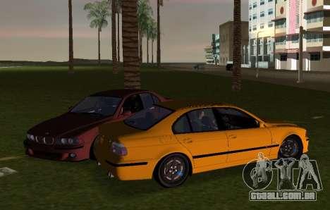 BMW M5 E39 para GTA Vice City vista traseira esquerda