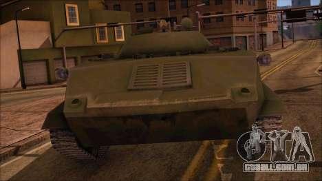 BMD-1 de ArmA Assalto Armado Padrão para GTA San Andreas traseira esquerda vista