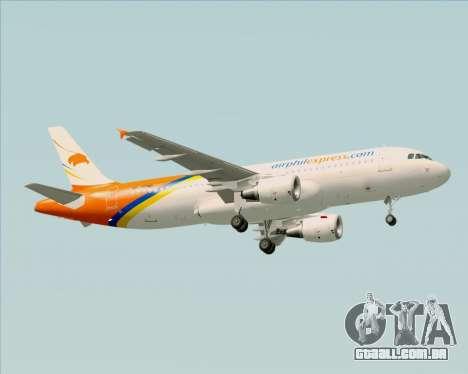 Airbus A320-200 Airphil Express para GTA San Andreas vista direita