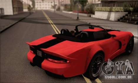 GTA 5 Bravado Banshee para GTA San Andreas esquerda vista