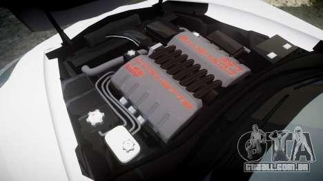 Chevrolet Corvette Z06 2015 TireBFG para GTA 4 vista lateral