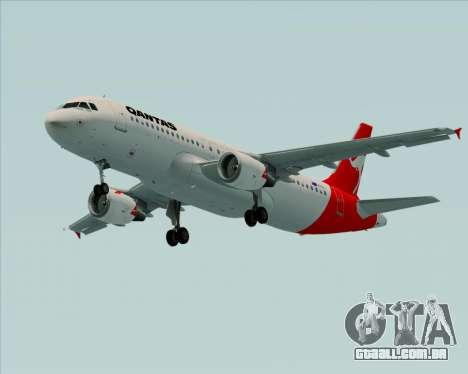 Airbus A320-200 Qantas para GTA San Andreas esquerda vista