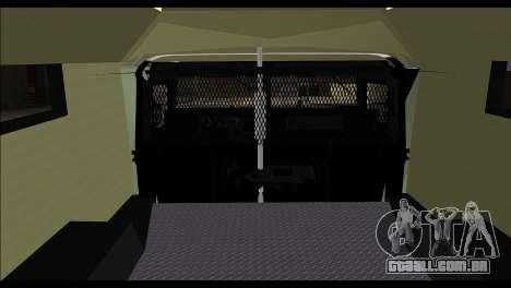 SWAT Enforcer para GTA San Andreas traseira esquerda vista