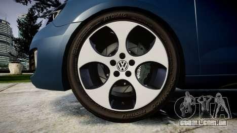 Volkswagen Golf GTI 2010 para GTA 4 vista de volta