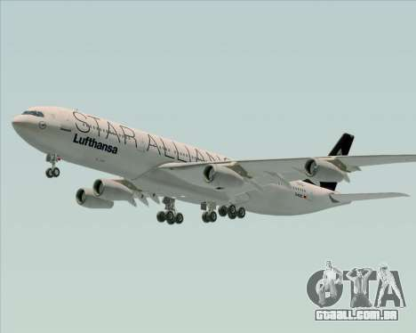 Airbus A340-300 Lufthansa (Star Alliance Livery) para as rodas de GTA San Andreas