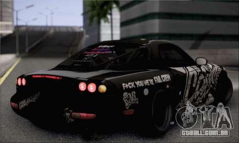 Mazda RX-7 Fail Crew para GTA San Andreas esquerda vista
