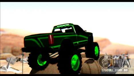City Destroyer v2 para GTA San Andreas traseira esquerda vista