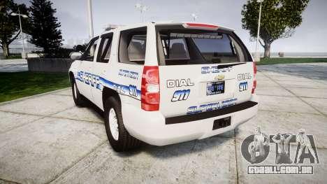 Chevrolet Tahoe [ELS] Liberty County Sheriff para GTA 4 traseira esquerda vista