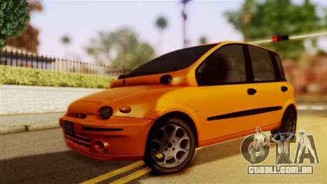 Fiat Multipla Normal Bumpers para GTA San Andreas