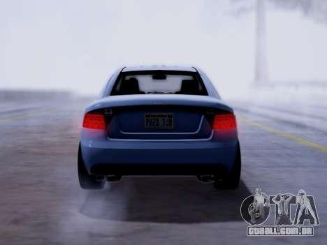 Obey Tailgater GTA V para GTA San Andreas traseira esquerda vista