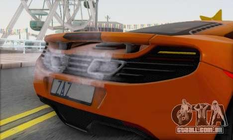 McLaren MP4-12C Gawai v1.4 para GTA San Andreas traseira esquerda vista
