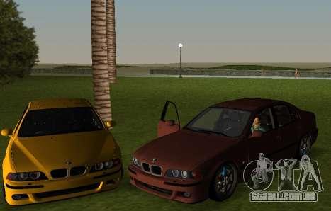 BMW M5 E39 para GTA Vice City deixou vista